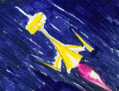 Starship I keep in my pocket: dream sketch by Wayan.