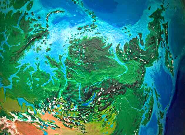 Orbital photo of Dubia, a possible future Earth. Siberia, the world's breadbasket.