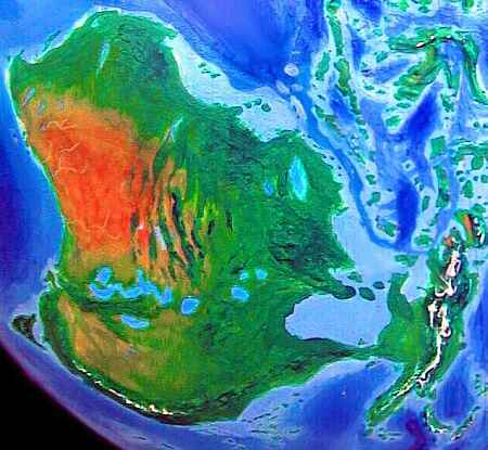 Australia-Papua, a combined continent on an alternate Earth called Jaredia