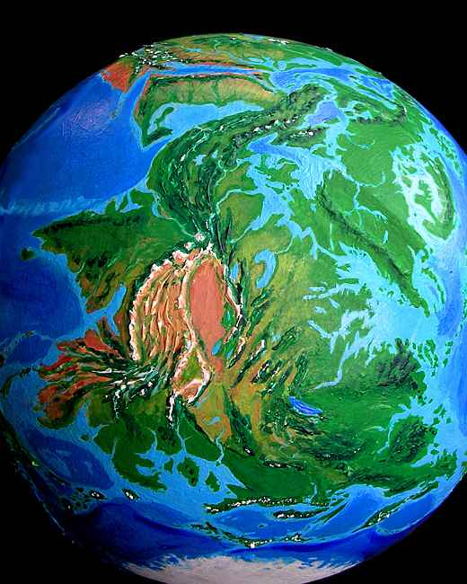 Orbital view of Seapole, a climatologically alternate Earth: Asia. Europe at top, India on left. Click to enlarge.