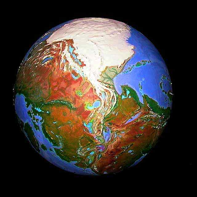 Orbital view of Shiveria, a climatologically alternate Earth: Eurasia.