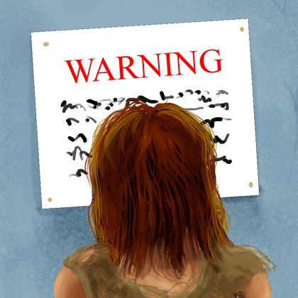 Dream: At a fair in the future, I see a warning sign on the wall that makes no sense